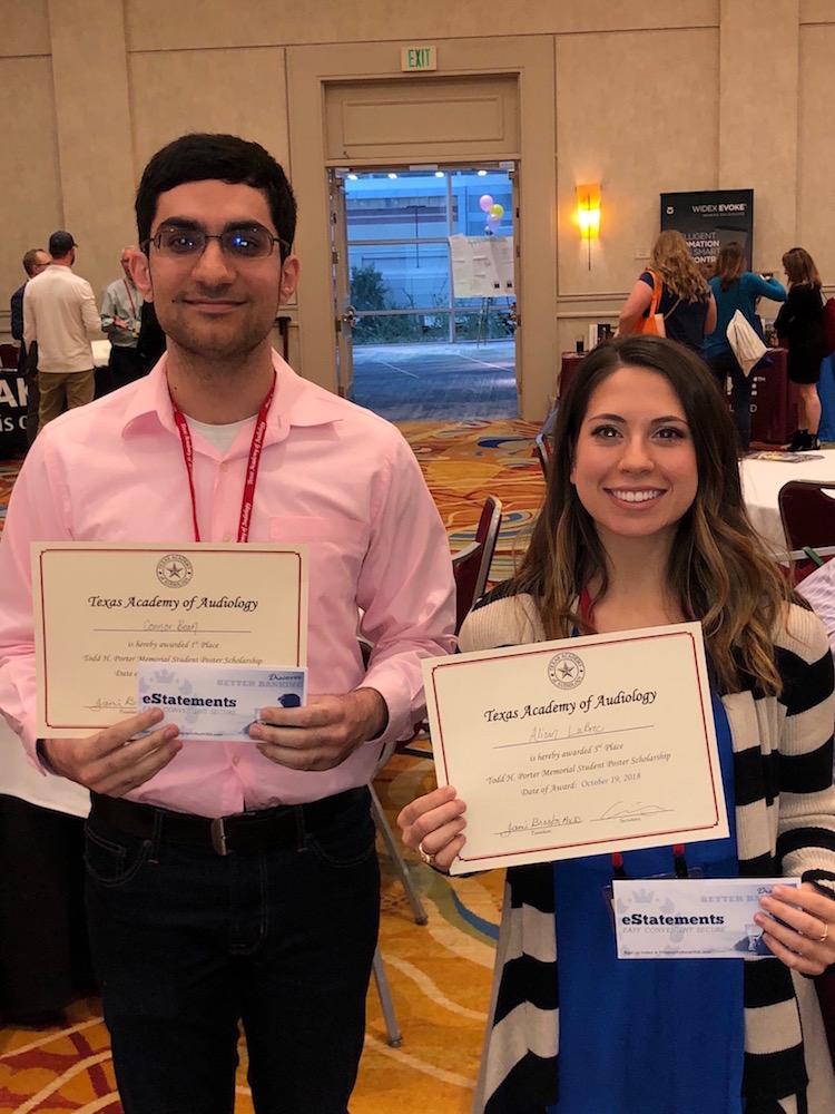 Mash and Sheri accept awards